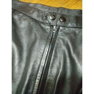 Vintage Skirts - Vintage Leather Pencil Skirt